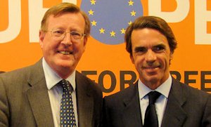 David Trimble (left) and José María Aznar