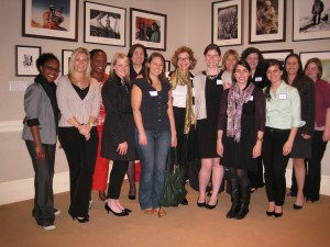 Annie Griffiths (center) with the Washington, D.C. chapter of WLN