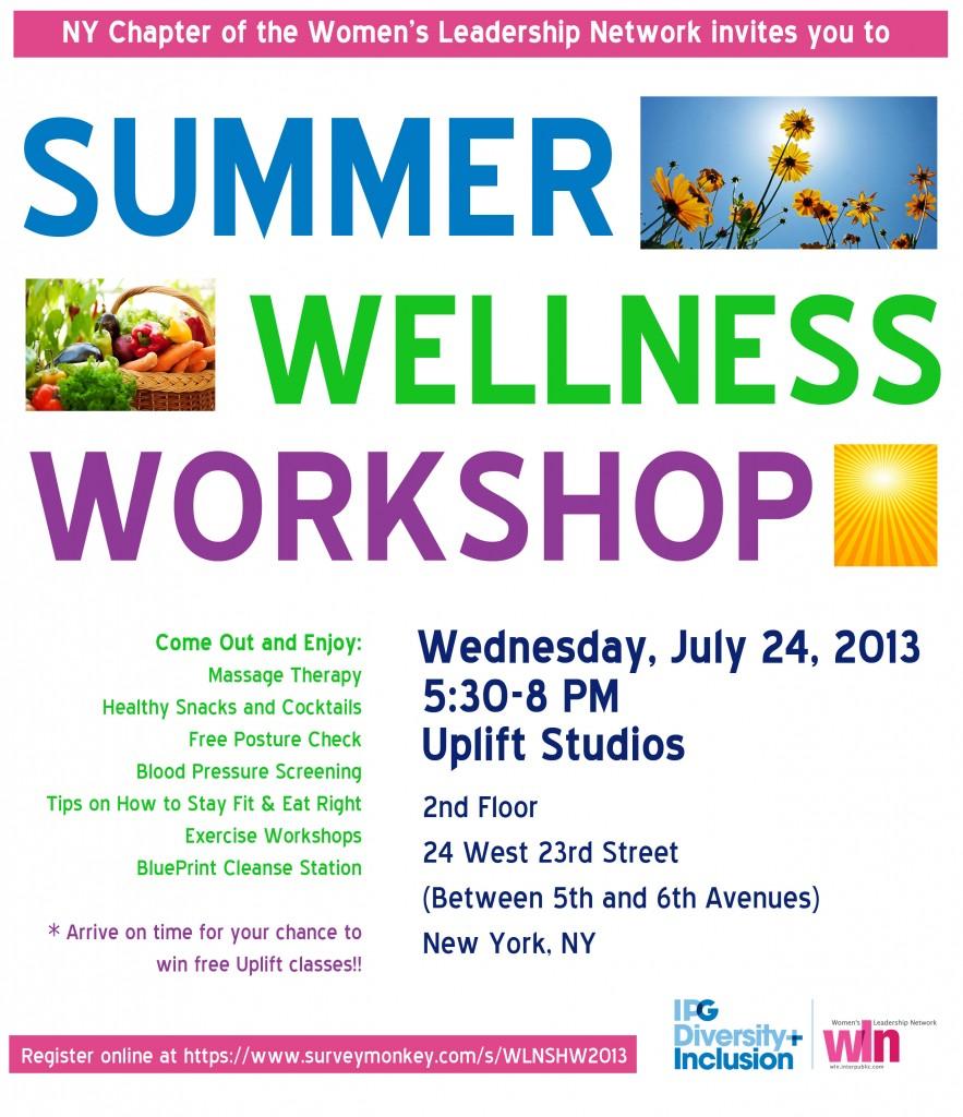 Summer Wellness Workshop
