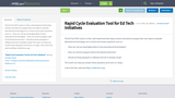 Rapid Cycle Evaluation Tool for Ed Tech Initiatives