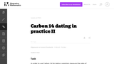 Carbon 14 Dating In Practice II