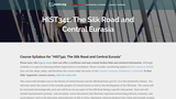 The Silk Road and Central Eurasia