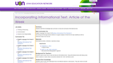 Incorporating Informational Text:  Article of the Week
