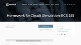 Homework for Circuit Simulation: ECE 255
