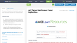 ACP Career Matchmaker Career Exploration