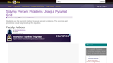 Solving Percent Problems Using a Pyramid Grid