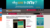 Topics in Culture and Globalization: Reggae as Transnational Culture, Fall 2010