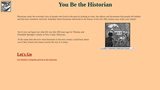 You Be the Historian