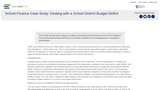 School Finance Case Study: Dealing with a School District Budget Deficit