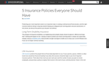 5 Insurance Policies Everyone Should Have