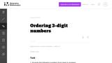 Ordering 3-digit numbers