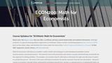 Math for Economists