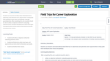 Field Trips for Career Exploration