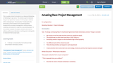 Amazing Race Project Management