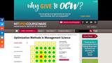 Optimization Methods in Management Science