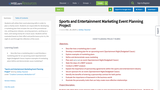 Sports and Entertainment Marketing Event Planning Project