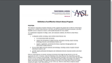 AASL Definition of an Effective School Library Program