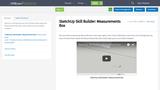 SketchUp Skill Builder: Measurements Box