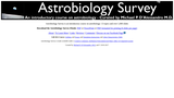 Astrobiology Survey - An introductory course on astrobiology