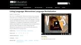 Living Language: Menominee Language Revitalization