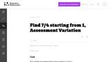 3.NF Find 7/4 starting from 1, Assessment Variation