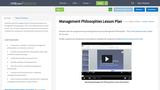 Management Philosophies Lesson Plan