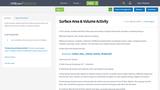 Surface Area & Volume Activity