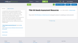 Title IVA Needs Assessment Resources