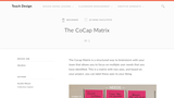 Teach Design: CoCap Matrix