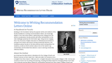 Writing Recommendation Letters Online
