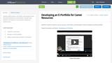 Developing an E-Portfolio for Career Resources