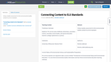 Connecting Content to ELS Standards