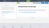 Writing Measurable Learning Targets