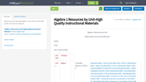 Algebra 1 Resources by Unit-High Quality Instructional Materials