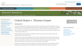 United States v. Thomas Cooper: A Violation of the Sedition Law