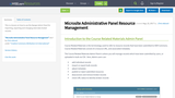 Microsite Administrative Panel Resource Management
