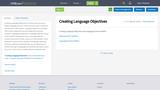 Creating Language Objectives