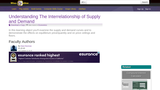 Understanding the Interrelationship of Supply and Demand