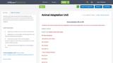 Animal Adaptation Unit