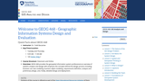 Geographic Information Systems Design and Evaluation
