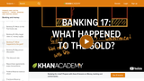 Banking, Money, Finance: Getting Off the Gold Standard