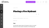 Placing a Fire Hydrant