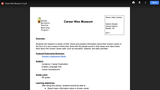 Career Wax Museum CATE Lesson Plan