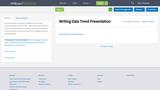 Writing Data Trend Presentation