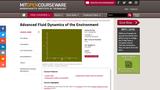 Advanced Fluid Dynamics of the Environment, Fall 2002
