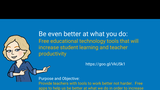 Free Educational Technology Tools