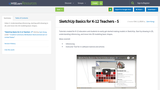 SketchUp Basics for K-12 Teachers - 5