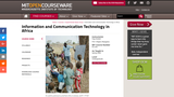 Information and Communication Technology in Africa, Spring 2006