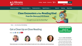 Close Reading- on demand online learning