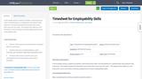 Timesheet for Employability Skills